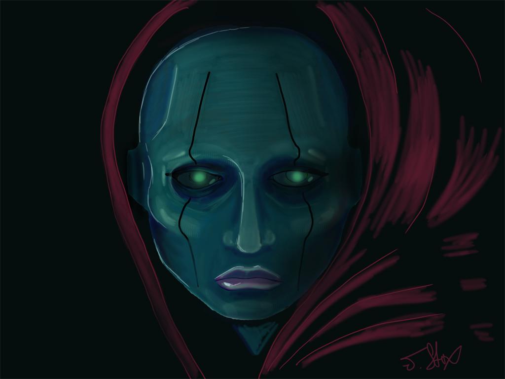 Face sketch by JStix