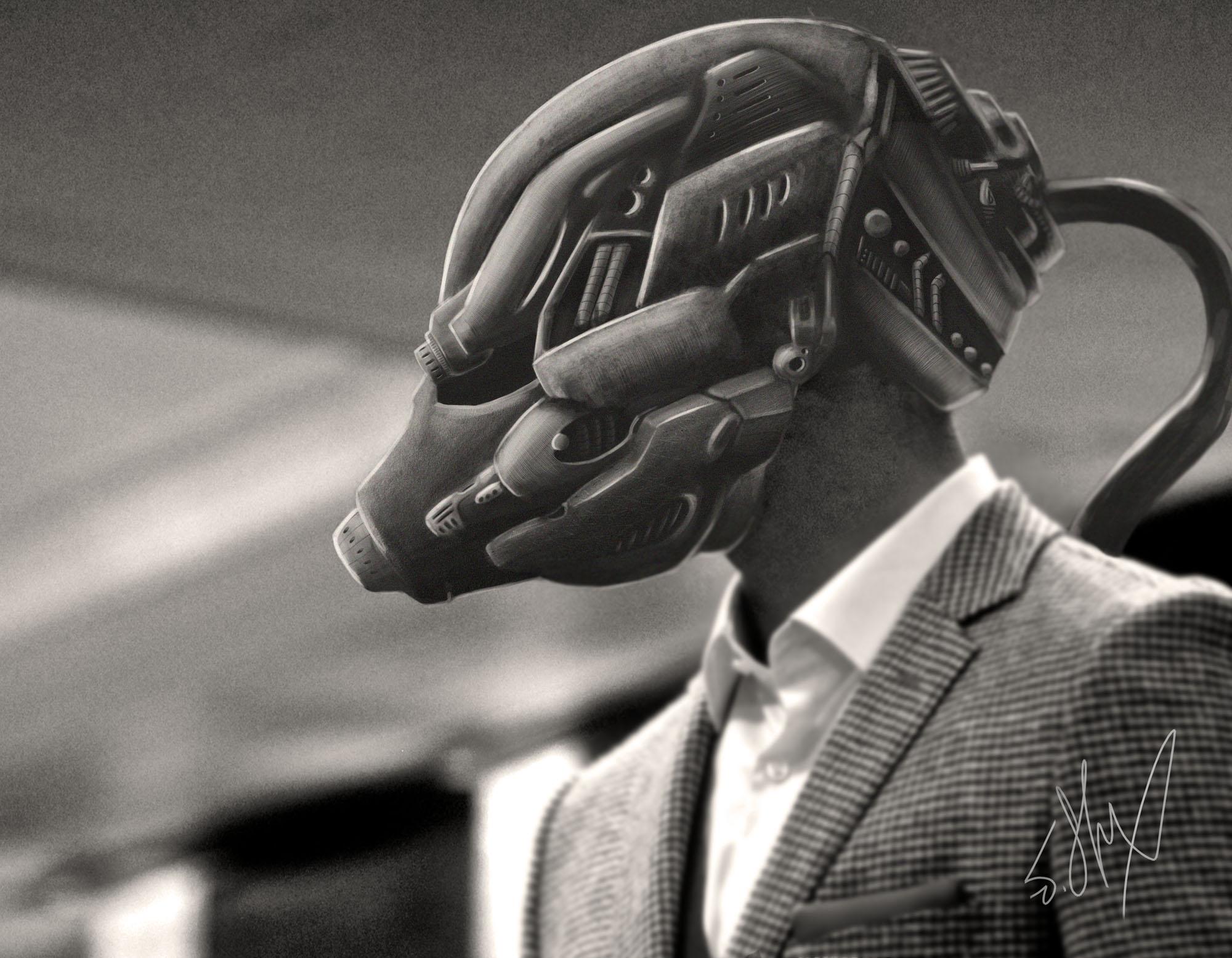 Helmet Concept art by JStix