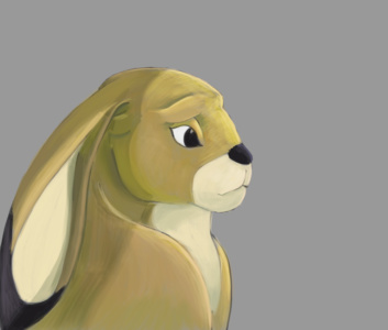 Rabbit cartoony by JStix