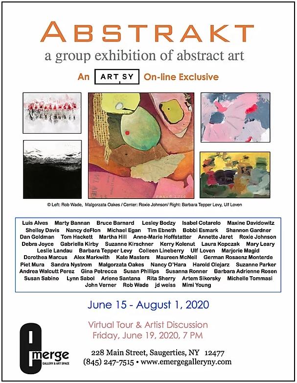 Emerge Gallery Abstract art exhibition J.Stix
